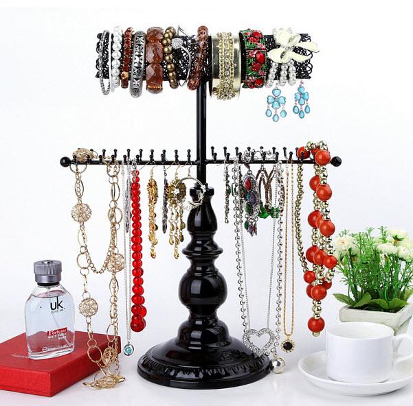 Metal vintage style jewelry holder organizer