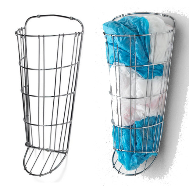 Plastic grocery bag holder-dispenser - b