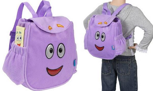 Purple backpack for girls