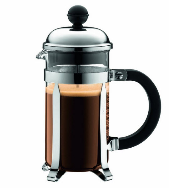Small French press coffee maker