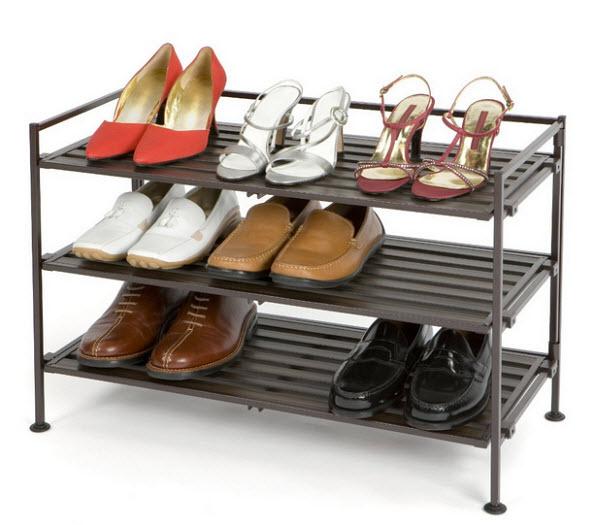 Three tier entrance shoe rack