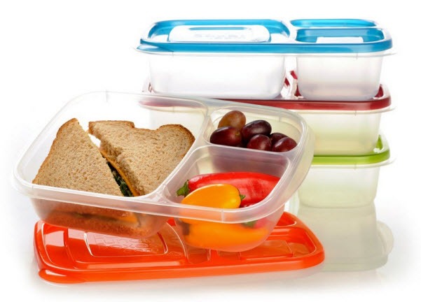 Disposable bento lunch containers