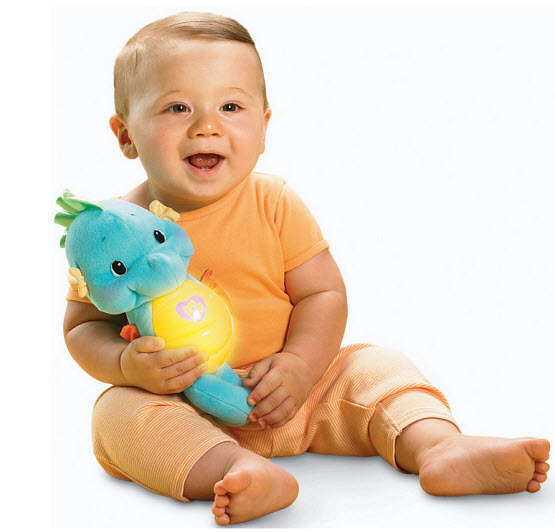 Light-up plush toy for babies