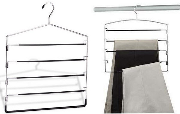 Multiple pants hangers