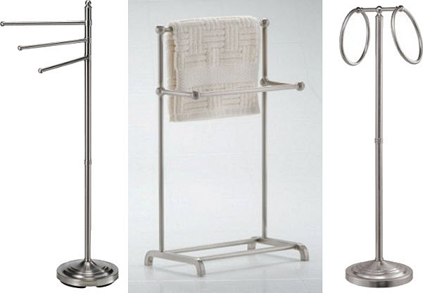 Nickel towel stand