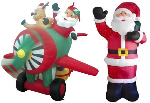 Outdoor animated Santa Claus decoration