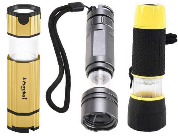 Pop up LED lantern flashlight combo