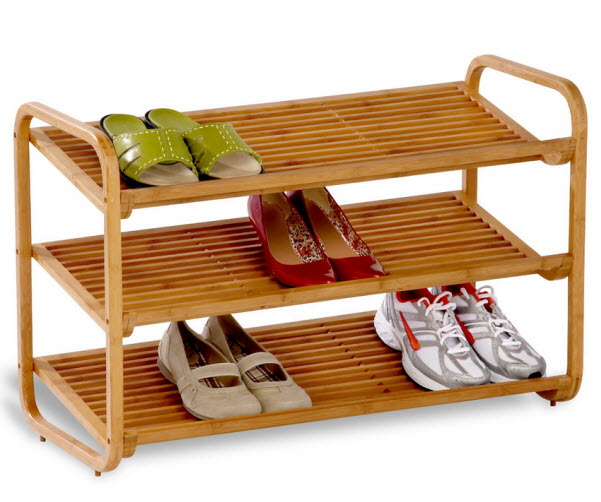 Small wooden shoe rack