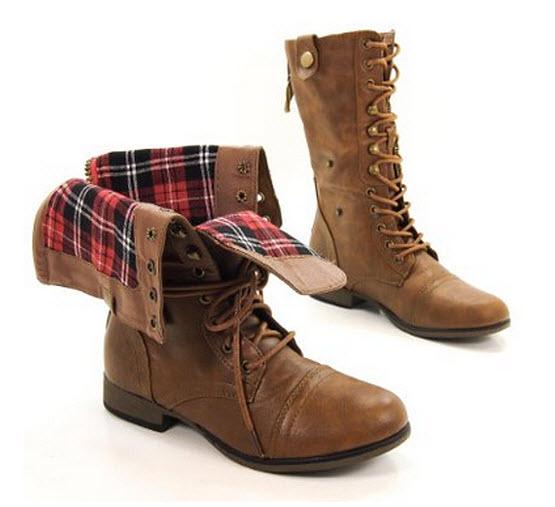 Womens tan combat boots