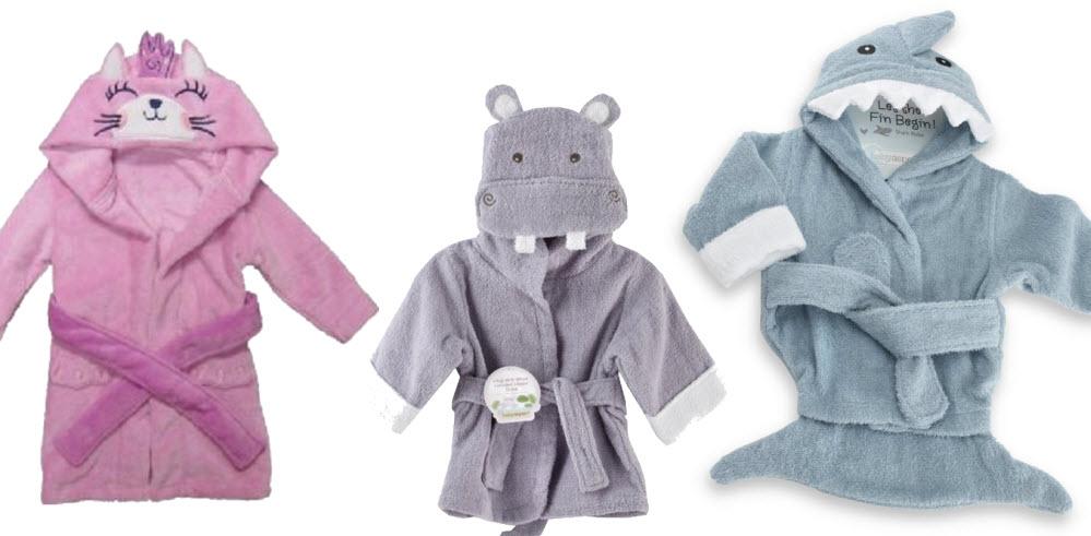 Hooded bathrobes for kids