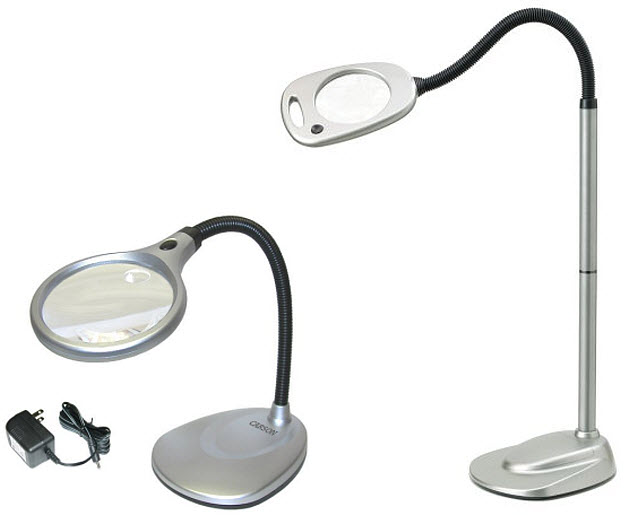 Large magnifying glass with stand