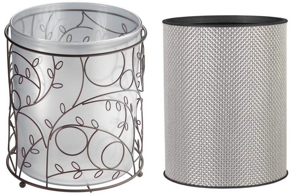 Modern decorative wastebasket