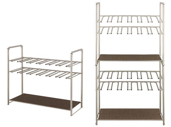 Stackable metal boot rack