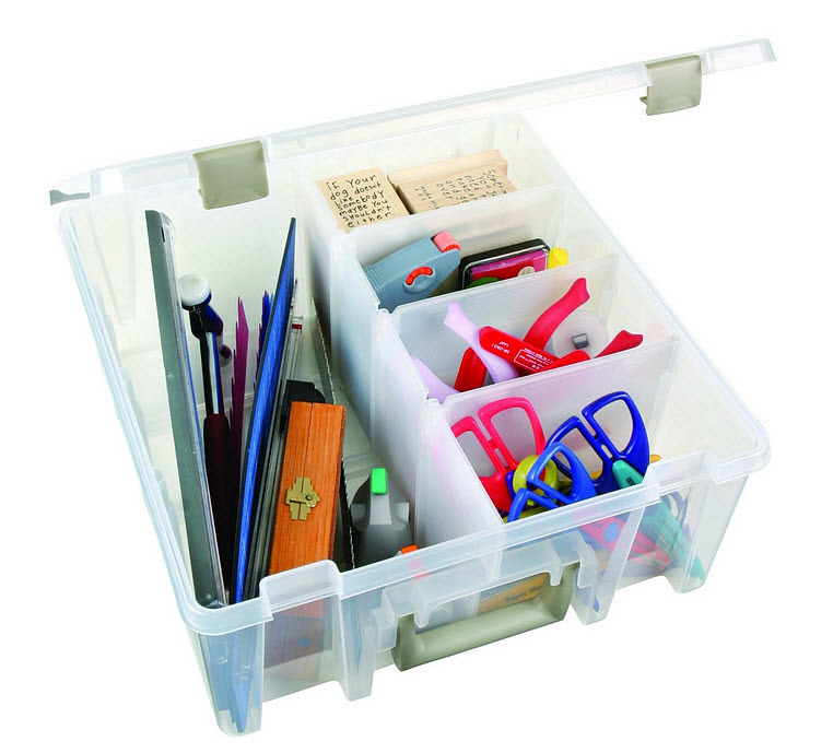 Plastic storage boxes with dividers