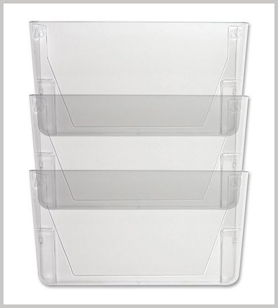 Plastic wall-mounted file holders - b