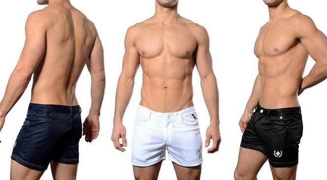 Quick-dry mesh gym shorts