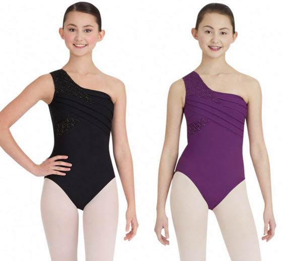One-shoulder leotards