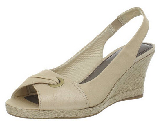 Womens beige espadrille wedges