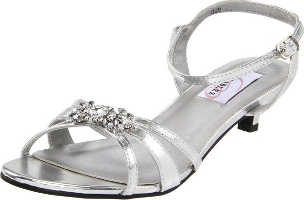 Silver ankle strap sandals
