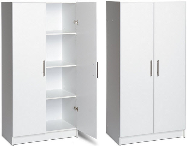 White office supplies cabinet