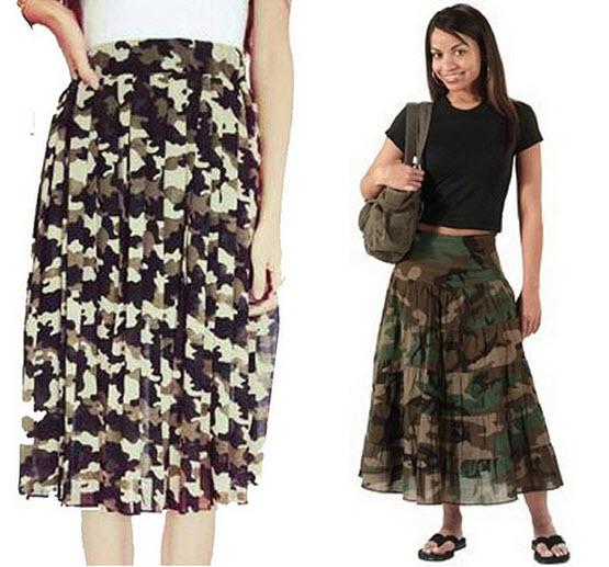 long camo skirt
