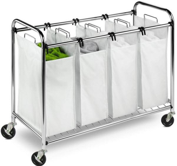 4-Bag rolling laundry hamper - b
