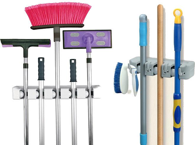 Broom and mop hanger - b