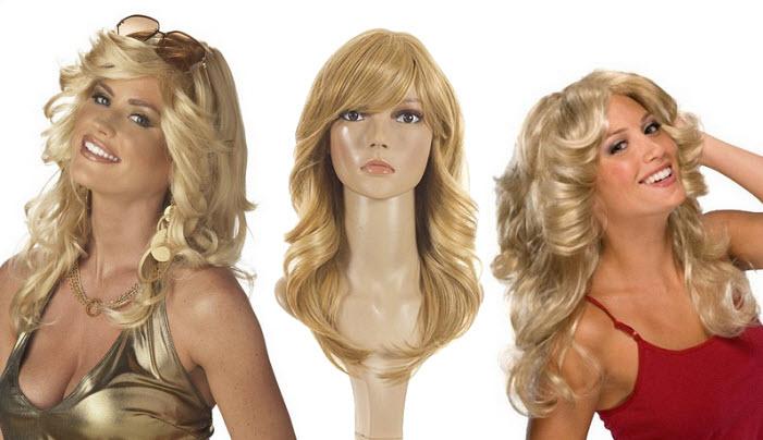 Farrah Fawcett costume wig