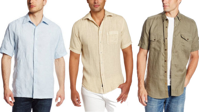 Mens short sleeve linen shirt - 2