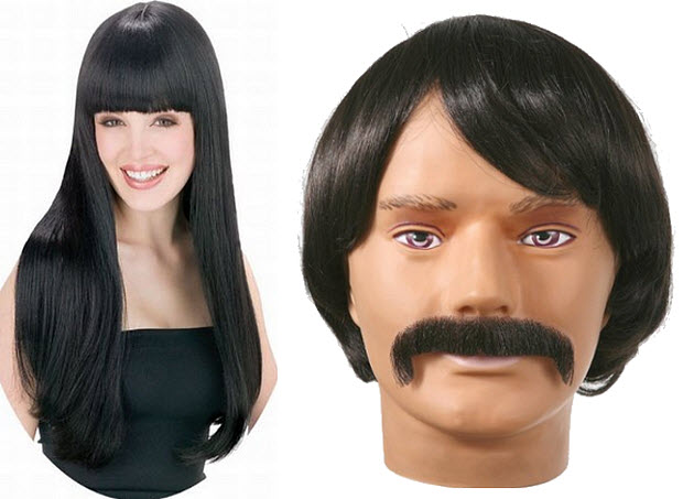 Sonny and Cher wigs