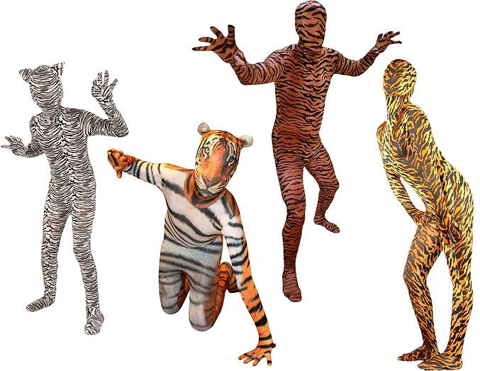 Whole body tiger leotard costume