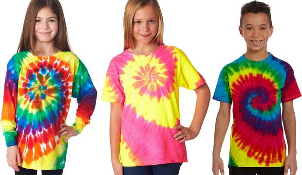 kids tie-dye t-shirts