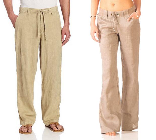 100 per cent linen pants