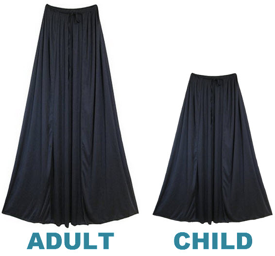 Black cape for superhero costume
