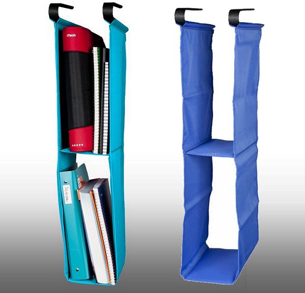 Blue locker shelf