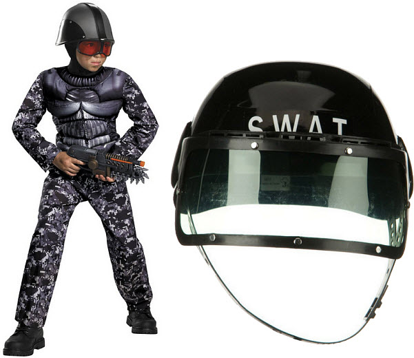 Kids SWAT team costume - b