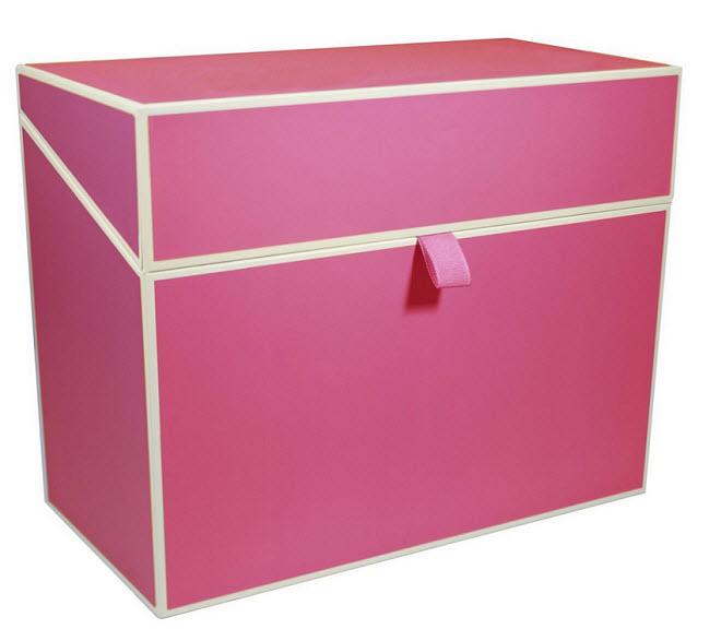 Pink file box