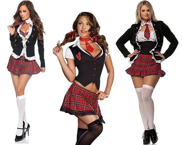 sexy schoolgirl halloween costume