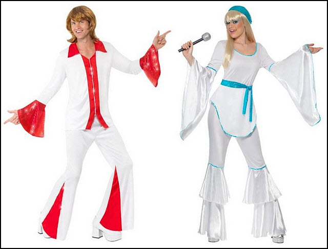 ABBA-style costumes for women and men