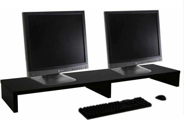 Desktop stand for two monitors