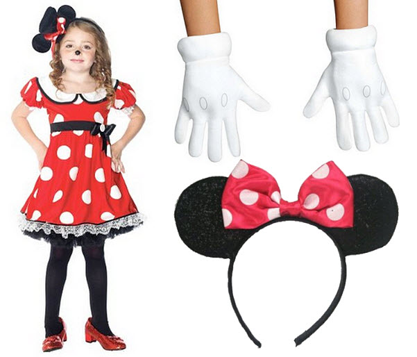 Girls Minnie Mouse Halloween costume