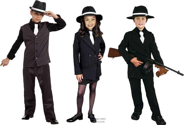 Kids gangster Halloween costume