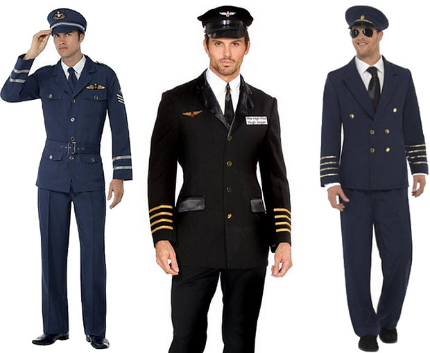 Mens pilot Halloween costume