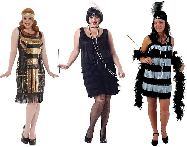 Plus-size flapper Halloween costume