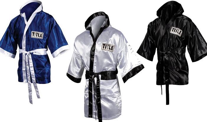 Satin boxing robe