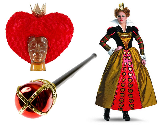 Womens Queen of Hearts costume - b