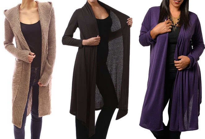 Womens extra long duster sweater