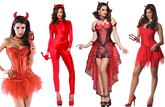 Womens sexy devil Halloween costume