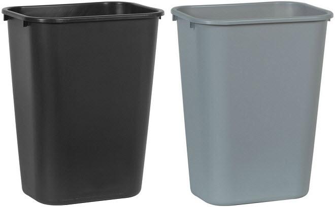 10-Gallon plastic trash can
