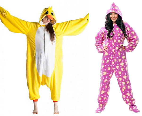 Duck pajamas for adults